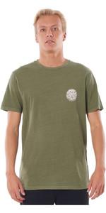 2020 Rip Curl Herren Feuchtes Logo T-Shirt Ctemn9 - Dunkle Olive