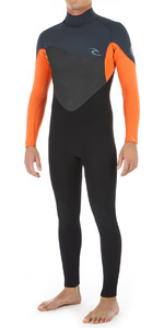 2020 Rip Curl Mens Omega 3/2mm GBS Back Zip Wetsuit ORANGE WSM8LM