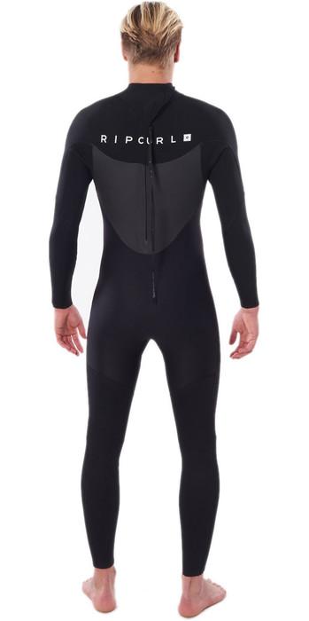 2020 Rip Curl Mannen Omega 3/2mm Gbs Back Zip Wetsuit Zwart Wsm8lm