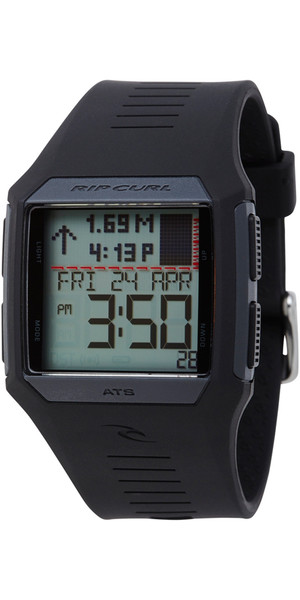 Rip Curl Rifles Tide Surf Watch Black A1119