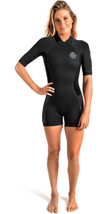 2018 Rip Curl Womens Dawn Patrol 2mm Back Zip Shorty Wetsuit Black WSP7FW