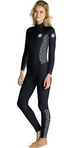 2019 Rip Curl Womens Dawn Patrol 3/2mm GBS Back Zip Wetsuit BLACK / WHITE WSM8GS