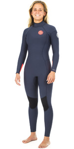 2019 Rip Curl Dawn Patrol Das Mulheres Dawn Patrol Do Dawn Patrol 3/2mm Gbs Back Zip Wetsuit Navy Wsm8gw