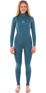 2020 Rip Curl Femmes Dawn Patrol L' 3/2mm Chest Zip Dawn Patrol Performance 3/2mm Chest Zip Combinaison Wsmydw - Vert