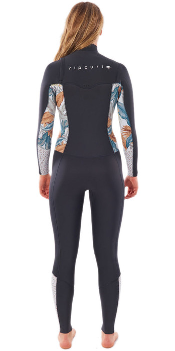 2021 Rip Curl Womens Dawn Patrol 4/3mm Chest Zip Wetsuit WSM9BS - Charcoal Grey