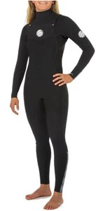 2020 Rip Curl Womens Dawn Patrol 3/2mm Chest Zip Wetsuit WSM9KW - Black