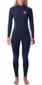 2020 Rip Curl Womens Dawn Patrol 3/2mm Wetsuit Back Zip WSM9GW - Stealth