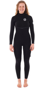 2021 Rip Curl Womens E-Bomb 5/3mm Zip Free Wetsuit WSMYJG - Black