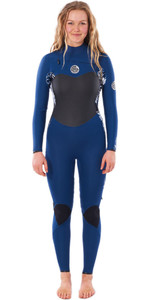 2020 Rip Curl Feminino Flashbomb 3/2mm Chest Zip Wetsuit Wsty - Navy
