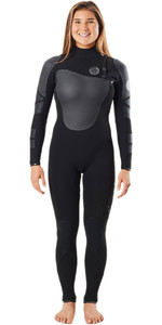 2020 Rip Curl Womens Flashbomb Heatseeker 4/3mm Chest Zip Wetsuit WSMYYW - Black