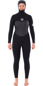 2020 Rip Curl Flashbomb 6 / 4mm Wetsuit Met Chest Zip Dames Wstyhg - Zwart