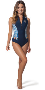 Shorty Neopreno Shorty Sin Mangas Rip Curl Mujer G-bomb 1mm Azul Sub Wsp7mw