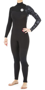 2019 Rip Curl Mulheres G Bomba 3/2mm Zip Free Wetsuit Wsm8kg Preto Livre