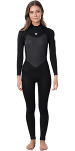 2021 Rip Curl Womens Omega 5/3mm Back Zip Wetsuit WSM9UW - Black