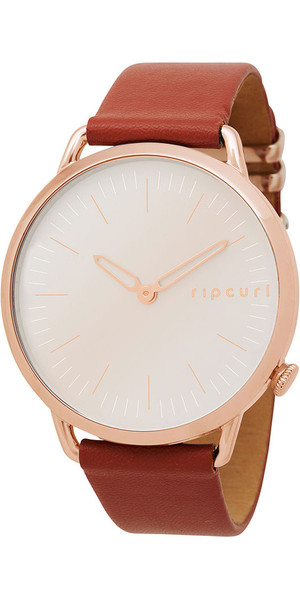 2018 Rip Curl Damen Super Slim Leder Uhr Rose Gold A3008G