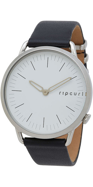 2018 Rip Curl Womens Super Slim Leather Watch Silver A3007G