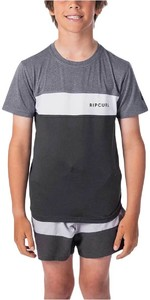 2021 Rip Curl Junior Underline Panel Short Sleeve UV Tee WLY9FB - Charcoal Grey