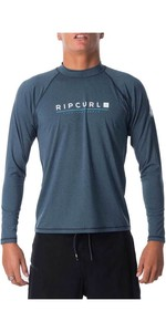 2021 Rip Curl Mens Shockwave Relaxed Long Sleeve UV Tee Rash Guard WLY7MM - Navy Marle