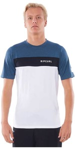 2021 Rip Curl Mens Underline Panel Short Sleeve UV Tee WLYYPM - Navy
