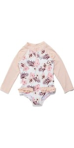 2021 Rip Curl Toddler Long Sleeve UV Sun Suit WLYYEF - Pink