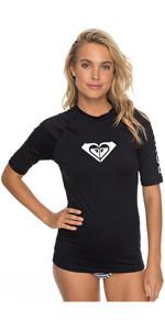 2019 Roxy Womens sincère manches courtes Rash Vest ANTHRACITE ERJWR03219