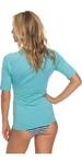 2018 Roxy Womens Short Sleeve Rash Vest AQUARELLE ERJWR03219