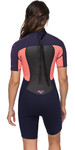 2020 Roxy Muta Da Donna Prologue Spring Shorty 2mm Nastro Blu / Coral Erjw503010