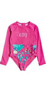 2020 Roxy Girls UV50+ Magical Sea Long Sleeve Onesie ERLWR03142 - Pink Flambe / Sunnyplace
