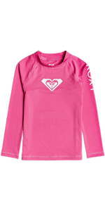 2020 Roxy Girl's Hearty UV50 + Rash Vest Met Lange Mouwen ERLWR03149 - Pink Flambe