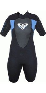 Roxy Womens Syncro 2mm Shorty Wetsuit BLACK / BLUE SY65WS