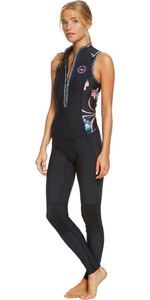 2020 Roxy De Las Mujeres 1.5mm De Surf Pop Long Jane Wetsuit Erjw703003 - Negro