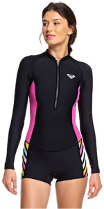 2019 Roxy Mulheres 1.5mm Pop Surf Manga Longa Shorty Wetsuit Preto Erjw403019