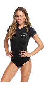 2020 Roxy Kvinder Essentials Chest Zip Uv Onesie Erjwr03282 - ægte Sort
