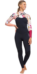 2020 Roxy Womens 3/2mm Pop Surf Chest Zip Wetsuit ERJW103047 - Black / Terracotta