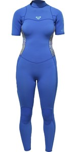 Roxy Womens Syncro Series 2mm de manga curta de volta Zip Wetsuit SEA AZUL ERJW303001