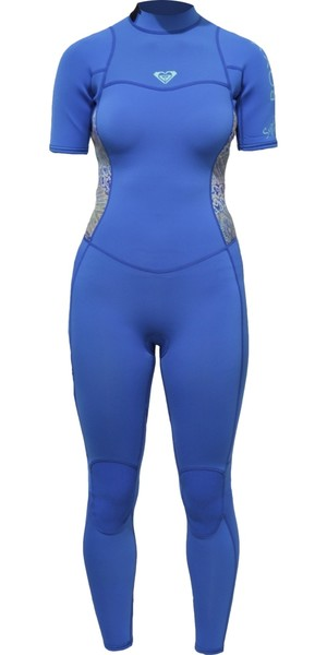 2018 Roxy Womens Syncro Series 2mm manches courtes Zip Wetsuit SEA BLEU ERJW303001