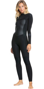 2021 Roxy Frauen Syncro 4/3mm Back Zip Gbs Anzug Erjw103054 - Schwarz / Jet Black