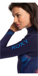 2020 Roxy Des Femmes Syncro 4/3mm Chest Zip Combinaison Ruban Bleu / Coral Flamme Erjw103022