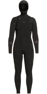 2020 Roxy Women's Syncro 5/4/3mm Hætteklædte Chest Zip Våddragt ERJW203006 - Sort / Jet Black