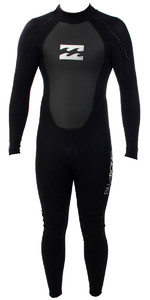 2019 Billabong Junior Intruder 3/2mm Flatlock Back Zip Wetsuit BLACK S43B04
