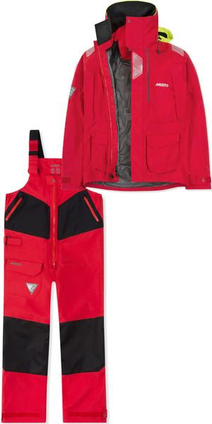 2019 Musto Mens BR2 Offshore Jacket SMJK052 & Trouser SMTR044 Combi Set Red