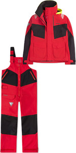 2019 Musto Womens BR2 Coastal Jacket SWJK015 & Trouser SWTR010 Combi Set Red