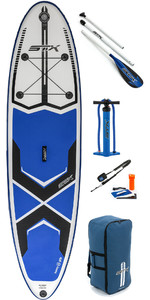 "2019 Stx 10'6 ""x 32"" Freeride Gonfiabile Stand Up Paddle Board , Paddle, Pump & Bag 70610"