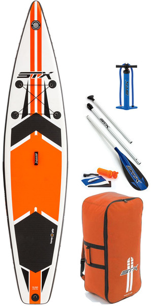 "2018 STX 12'6 x 32 ""Race Oppustelig Stand Up Paddle Board, Padle, Taske, Pumpe & Leash Orange 70651"
