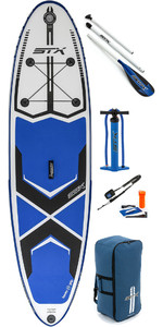 "2019 Stx 9'8 ""x 30"" Stand Up Paddle Board Gonflable Freeride, Pagaie, Sac, Pompe Et Laisse 70600"