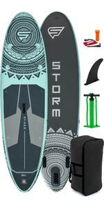 2021 Storm Freeride 10'4 Aufblasbares Stand Up Paddle Board Paket - Board, Tasche, Pumpe & Leine - Aqua