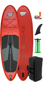 2021 Storm Freeride 10'4 Forfait Gonflable Stand Up Paddle Board - Board, Bag, Pump - Rouge