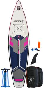 2021 STX Touring Pure 10'6 Inflatable Stand Up Paddle Board Package - Board, Bag, Pump & Leash - Purple / Blue