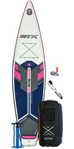 2020 STX Tourer Pure 11'6 Inflatable Stand Up Paddle Board Package - Board, Bag, Pump & Leash - Purple / Blue