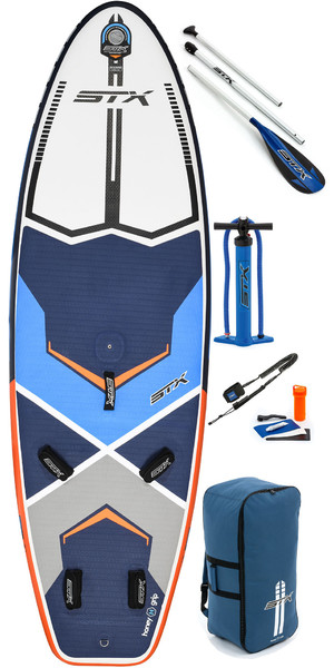 2019 STX Inflatable Windsurf 280 Stand Up Paddle Board, Paddle, Bag, Pump & Leash 280x85x6 Blue / Orange 70635